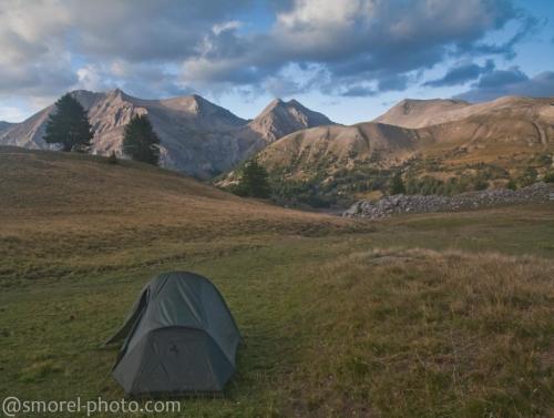 Bivouac au col de l'Encombrette : Val d'Allos